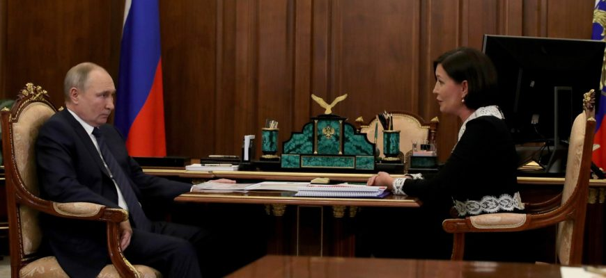 Владимир Путин провел встречу в Кремле с главой АСИ Светланой Чупшевой