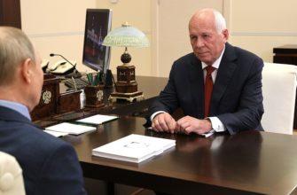 Путин встретился с главой госкорпорации «Ростех»