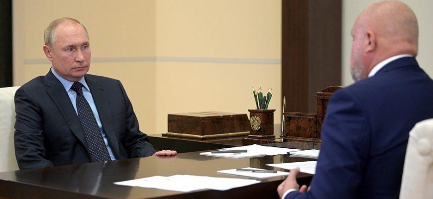 Путин встретился с губернатором Кузбасса